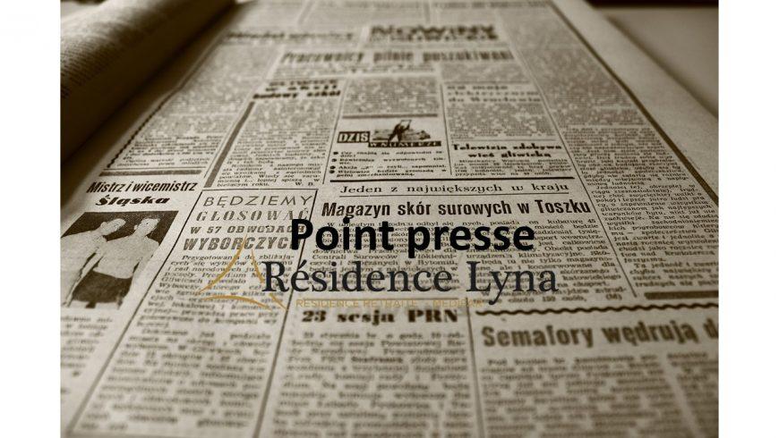Le point presse de la Résidence Lyna